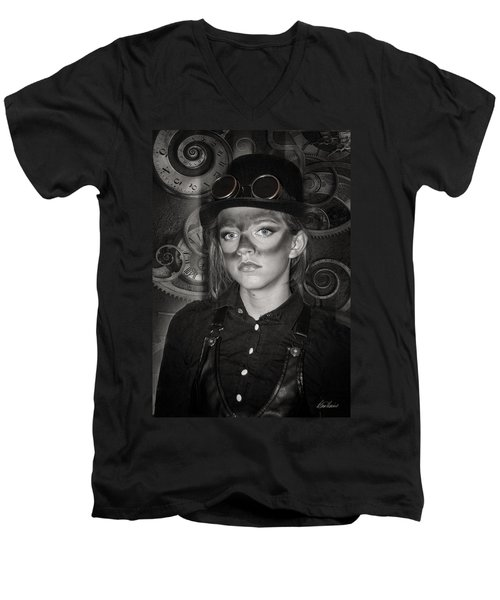 Steampunk Princess Men's V-Neck T-Shirt