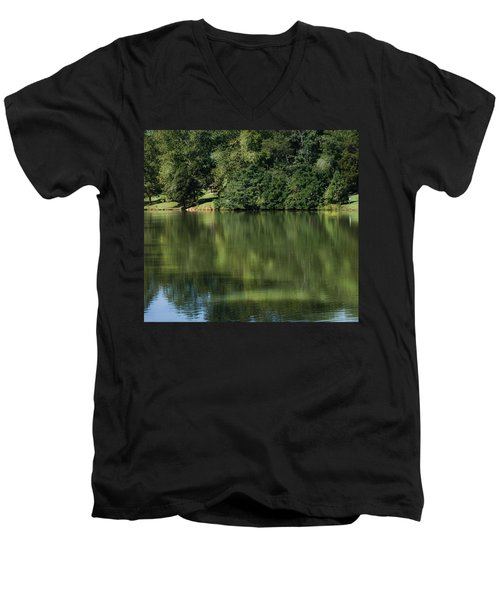 Steele Creek Park Reflections Men's V-Neck T-Shirt