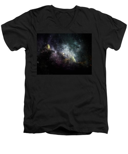 Men's V-Neck T-Shirt featuring the photograph Stellar 2 by Cynthia Lassiter