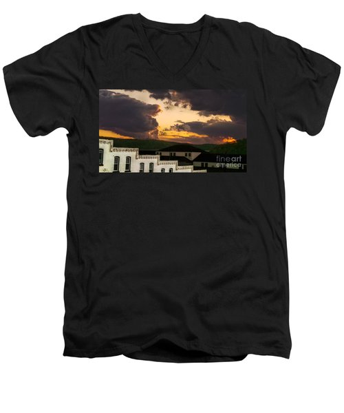 Beautiful Clouds Men's V-Neck T-Shirt
