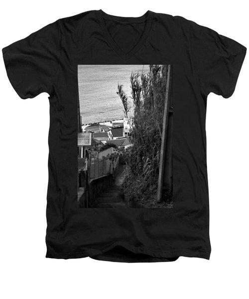 Step Down Men's V-Neck T-Shirt