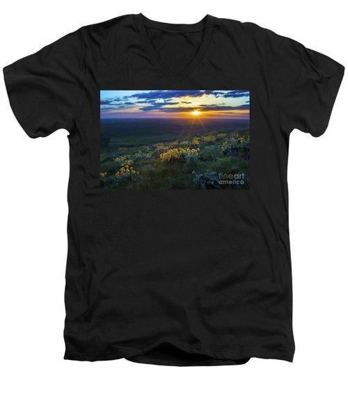 Steptoe Sunset Men's V-Neck T-Shirt