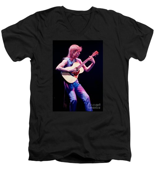 Steve Howe Of Yes Performing The Clap Men's V-Neck T-Shirt