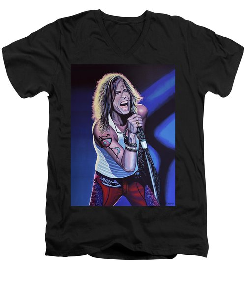 Steven Tyler 3 Men's V-Neck T-Shirt