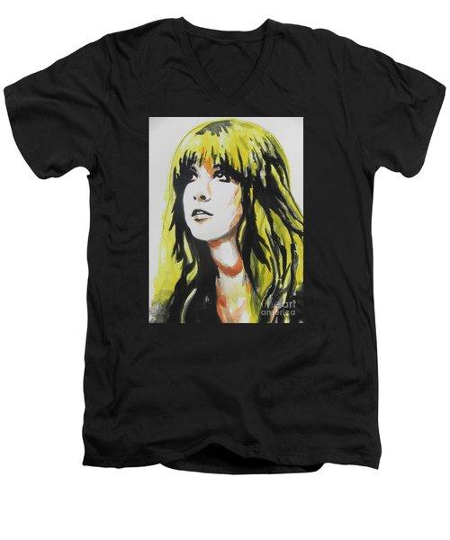 Stevie Nicks 01 Men's V-Neck T-Shirt