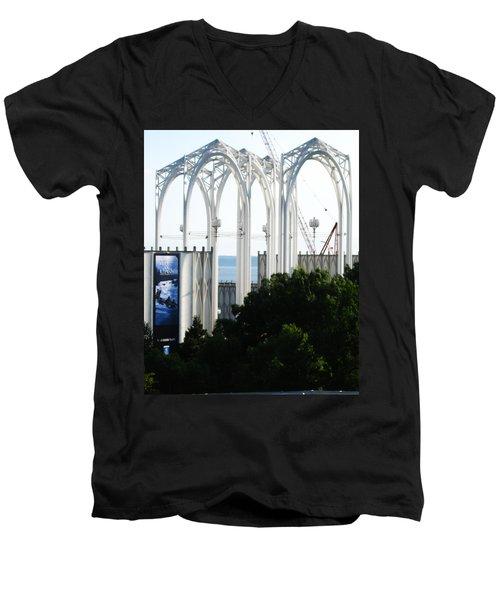 Still Under Construction Men's V-Neck T-Shirt by David Trotter