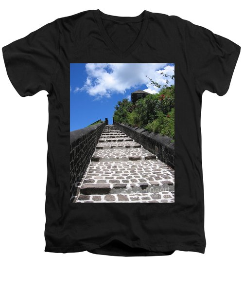 St.kitts - Ascent Men's V-Neck T-Shirt by HEVi FineArt