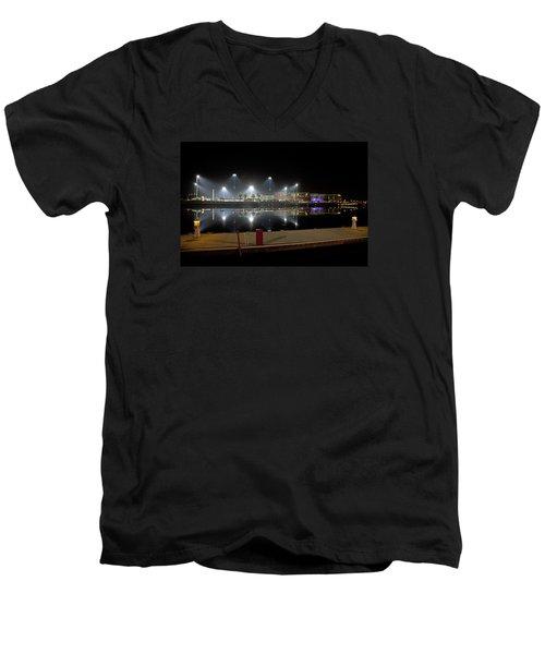 Stockton Stadium Men's V-Neck T-Shirt