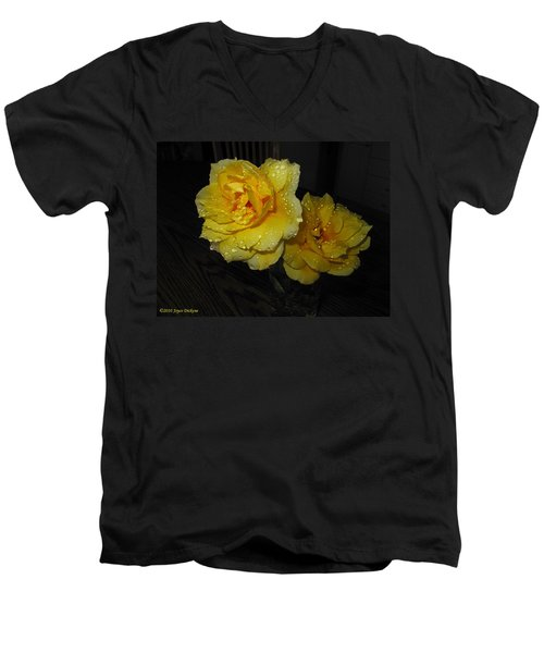 Stop And Smell The Roses Men's V-Neck T-Shirt