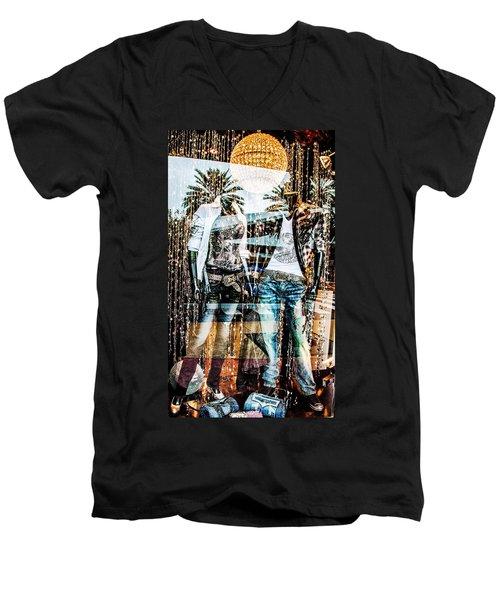 Store Window Display Men's V-Neck T-Shirt
