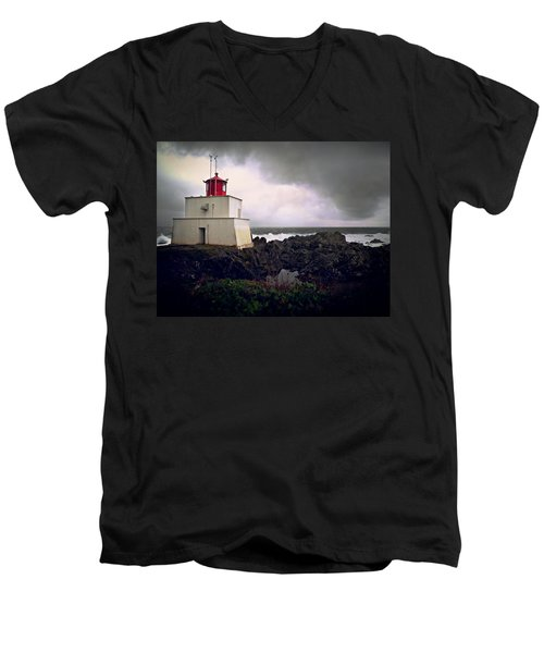Storm Approaching Men's V-Neck T-Shirt by Micki Findlay