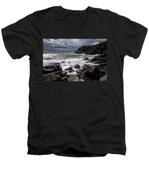 Storm At Gulliver's Hole Men's V-Neck T-Shirt