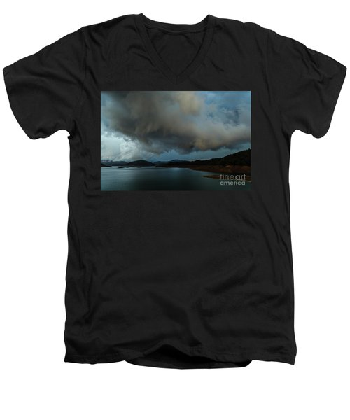 Storm Over Lake Shasta Men's V-Neck T-Shirt