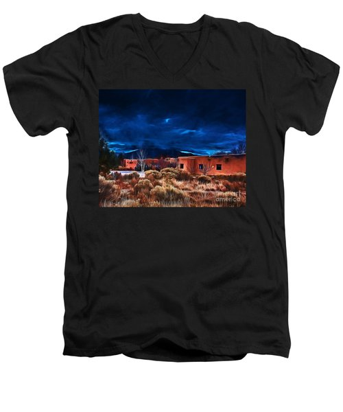 Storm Over Taos Lx - Homage Okeeffe Men's V-Neck T-Shirt