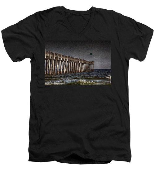 Stormscape Men's V-Neck T-Shirt by Sennie Pierson