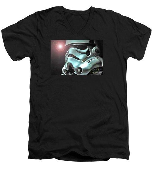 Stormtrooper Helmet 27 Men's V-Neck T-Shirt