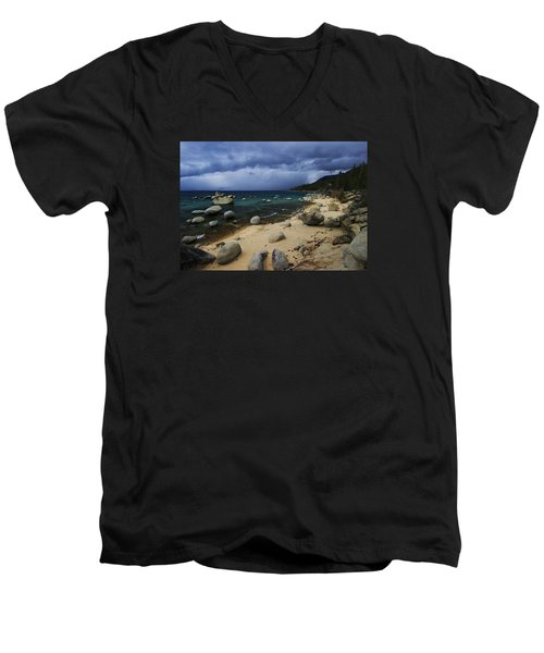 Men's V-Neck T-Shirt featuring the photograph Stormy Days  by Sean Sarsfield