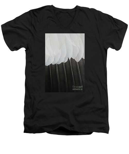 Men's V-Neck T-Shirt featuring the photograph Stormy Feathers by Judy Whitton