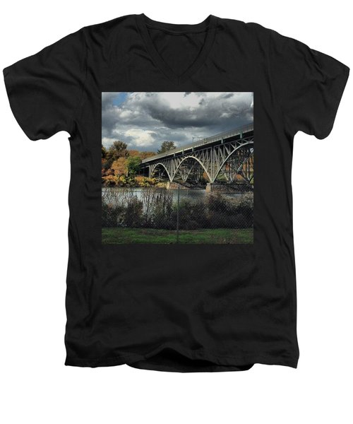 Strawberry Mansion Bridge Men's V-Neck T-Shirt