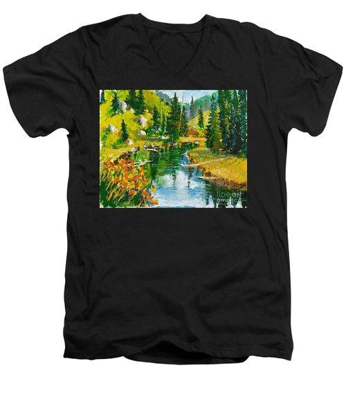 Strawberry Reservoir Men's V-Neck T-Shirt