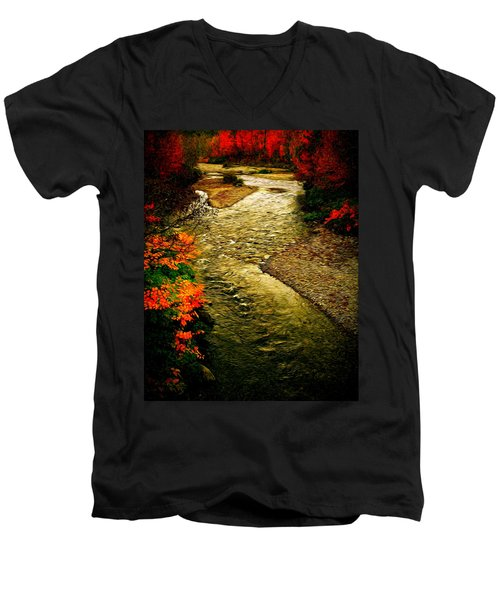 Men's V-Neck T-Shirt featuring the photograph Stream by Bill Howard
