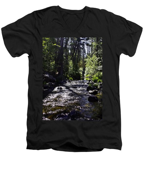 Men's V-Neck T-Shirt featuring the photograph Stream by Brian Williamson