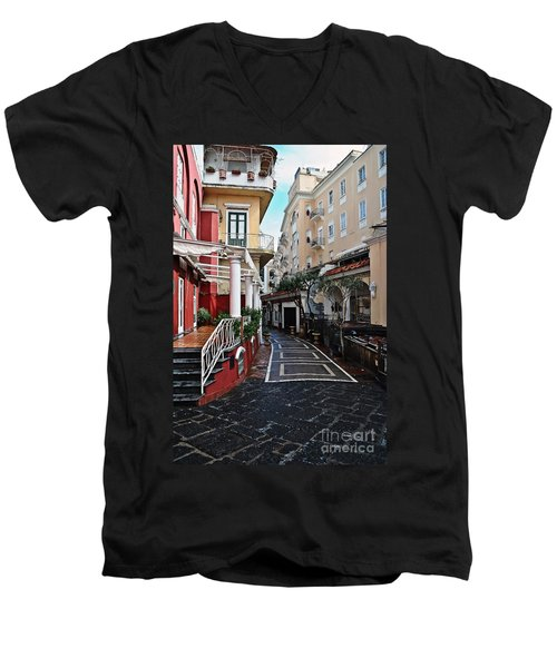 Street Of Capri Men's V-Neck T-Shirt