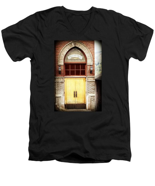 Street View Men's V-Neck T-Shirt by Melanie Lankford Photography