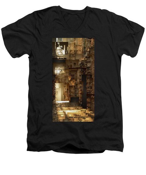 Streets Of Gold Men's V-Neck T-Shirt by David Hansen