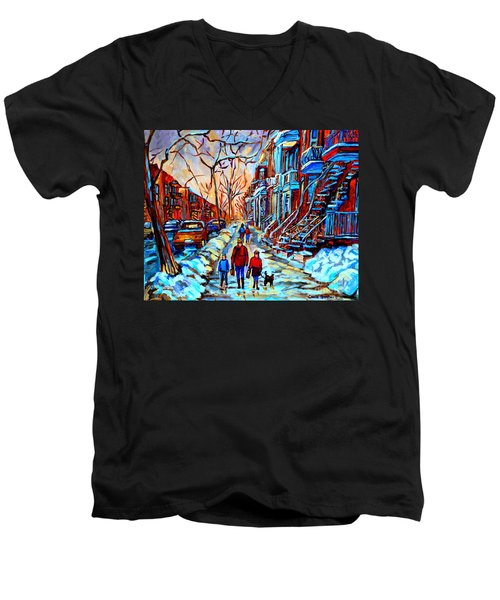Streets Of Montreal Men's V-Neck T-Shirt