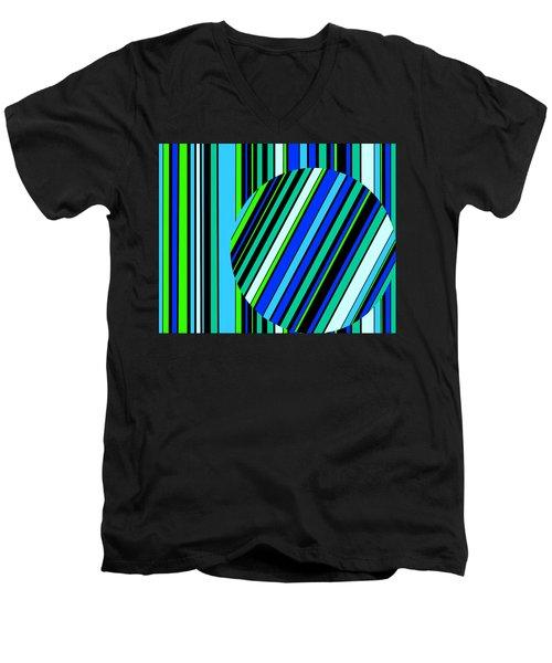 Striped Circle  C2014 Men's V-Neck T-Shirt