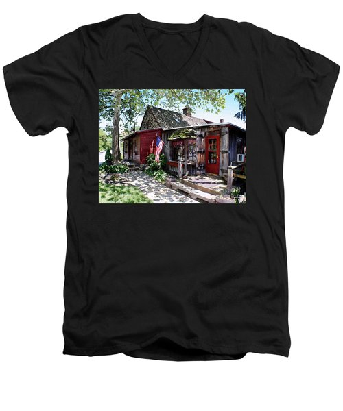 Men's V-Neck T-Shirt featuring the photograph Strode Mill West Chester Pa by Polly Peacock