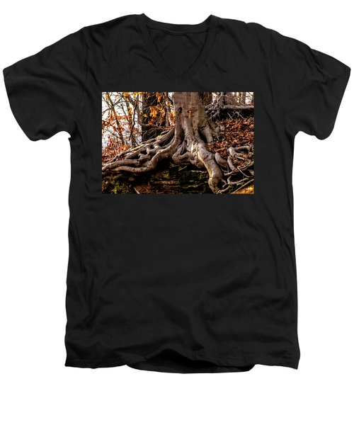 Strong Roots Men's V-Neck T-Shirt