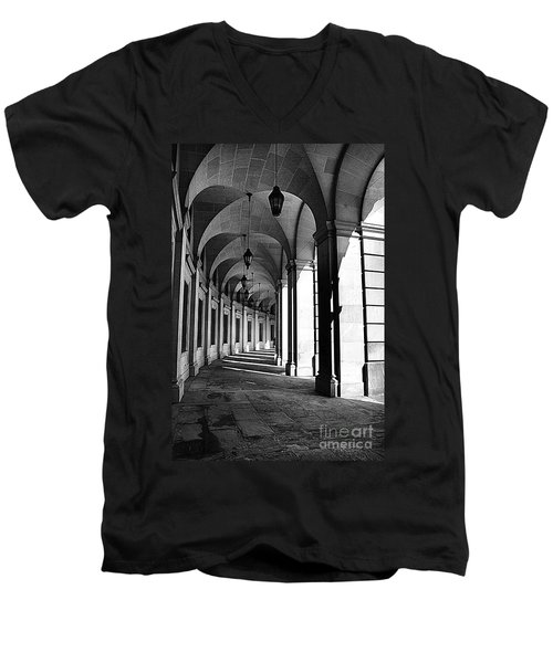 Men's V-Neck T-Shirt featuring the photograph Study In Black And White by John S