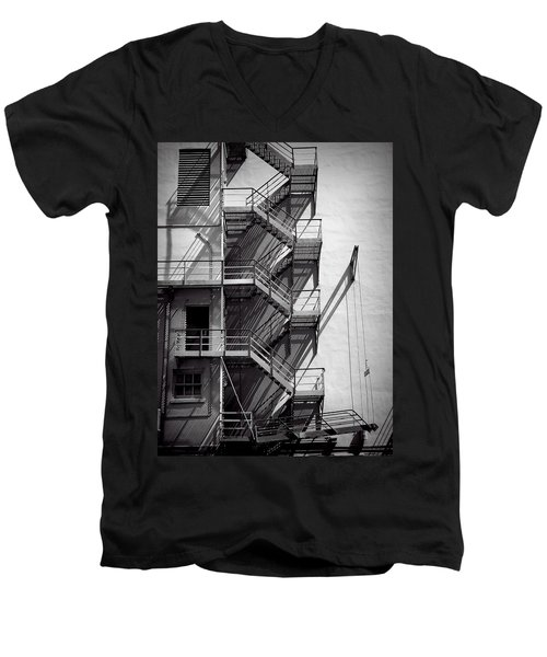 Study Of Lines And Shadows Men's V-Neck T-Shirt