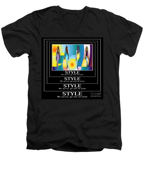 Style Men's V-Neck T-Shirt by Kim Peto
