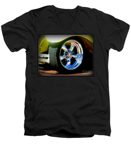 Men's V-Neck T-Shirt featuring the photograph Stylin' Wheels by Bobbee Rickard