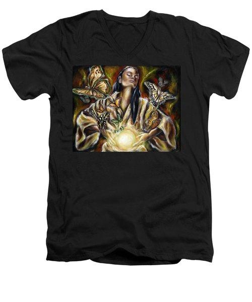 Sublimation Men's V-Neck T-Shirt
