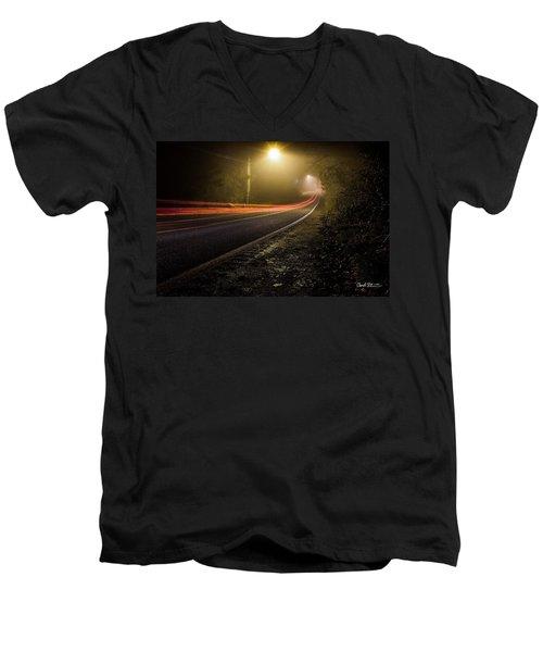 Suburbian Night Men's V-Neck T-Shirt