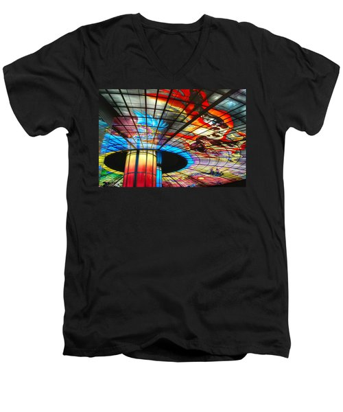 Subway Station Ceiling  Men's V-Neck T-Shirt