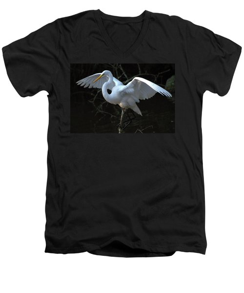 Men's V-Neck T-Shirt featuring the photograph Successful Hunt by Charlotte Schafer