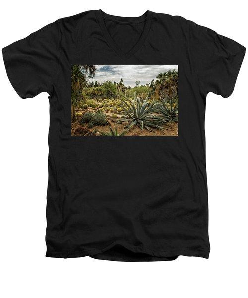 Succulents At Huntington Desert Garden No. 3 Men's V-Neck T-Shirt