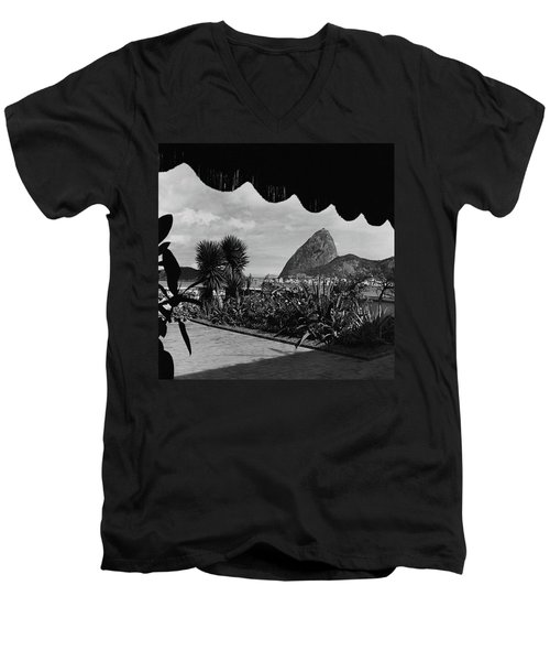 Sugarloaf Mountain Seen From The Patio At Carlos Men's V-Neck T-Shirt