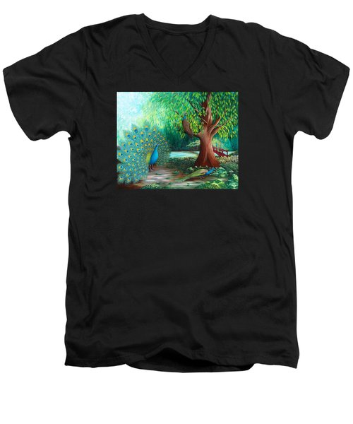 Suitors Men's V-Neck T-Shirt by Katherine Young-Beck