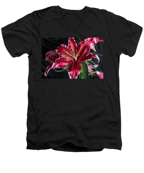 Sumatran Lily Men's V-Neck T-Shirt