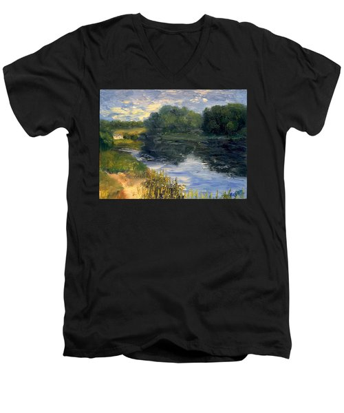 Summer At Jackson Lake Men's V-Neck T-Shirt