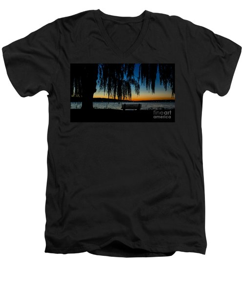 Summer Evening At Stewart Park Men's V-Neck T-Shirt