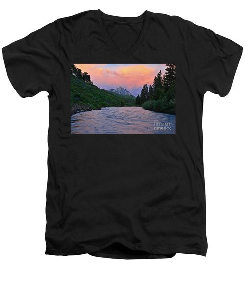 Summer Evening Reflections Men's V-Neck T-Shirt