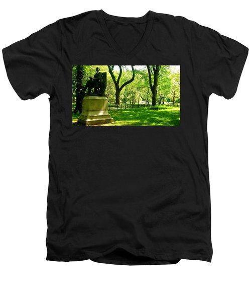 Summer In Central Park Manhattan Men's V-Neck T-Shirt