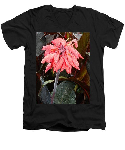 Men's V-Neck T-Shirt featuring the photograph Summer Rain In Maryland by Emmy Marie Vickers